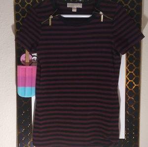 Michael Kors gold Zippers Shirt